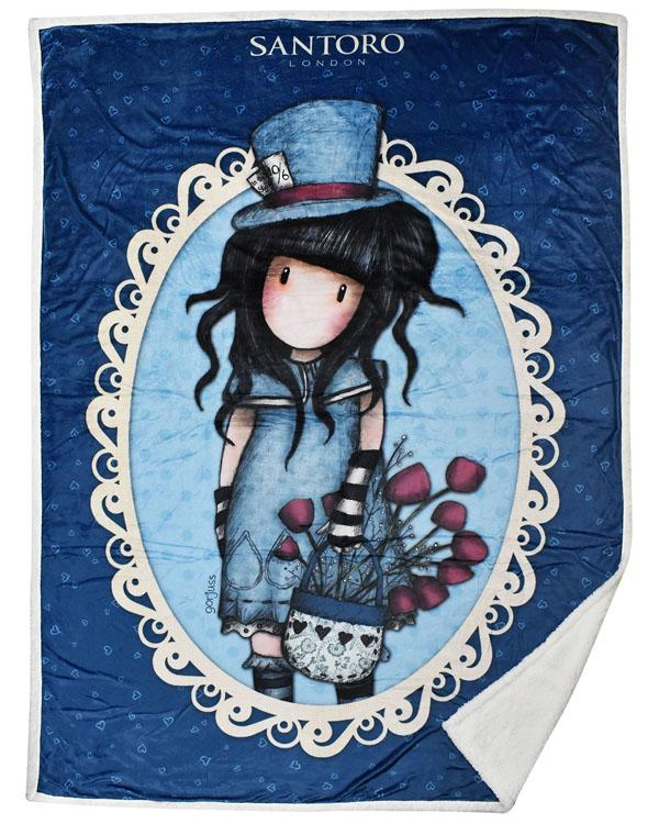 Κουβέρτα Santoro Gorjuss 160x220 The Hatter (SA07207)