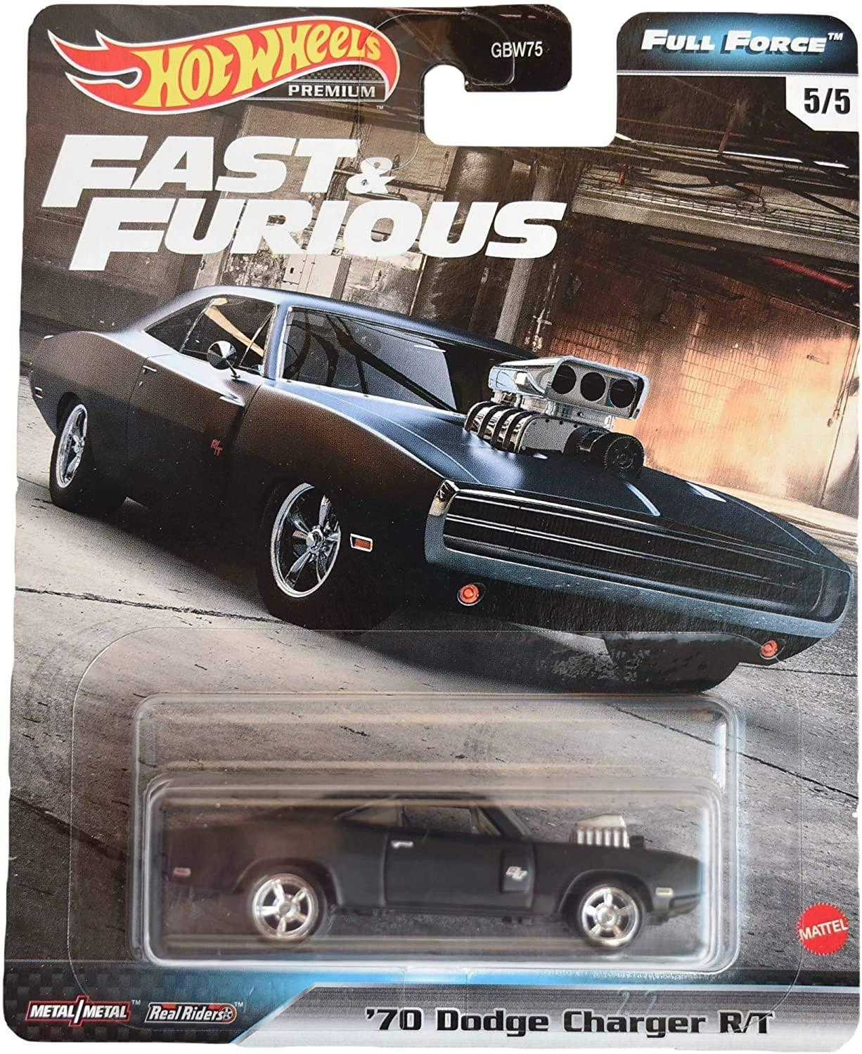 Hot Wheels Full Force Real Riders Fast And Furious '70 Dodge Charger R/T (GJR73/GB...