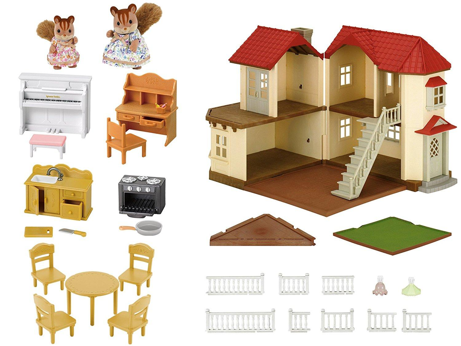 Sylvanian Families City House with Lights & Furniture