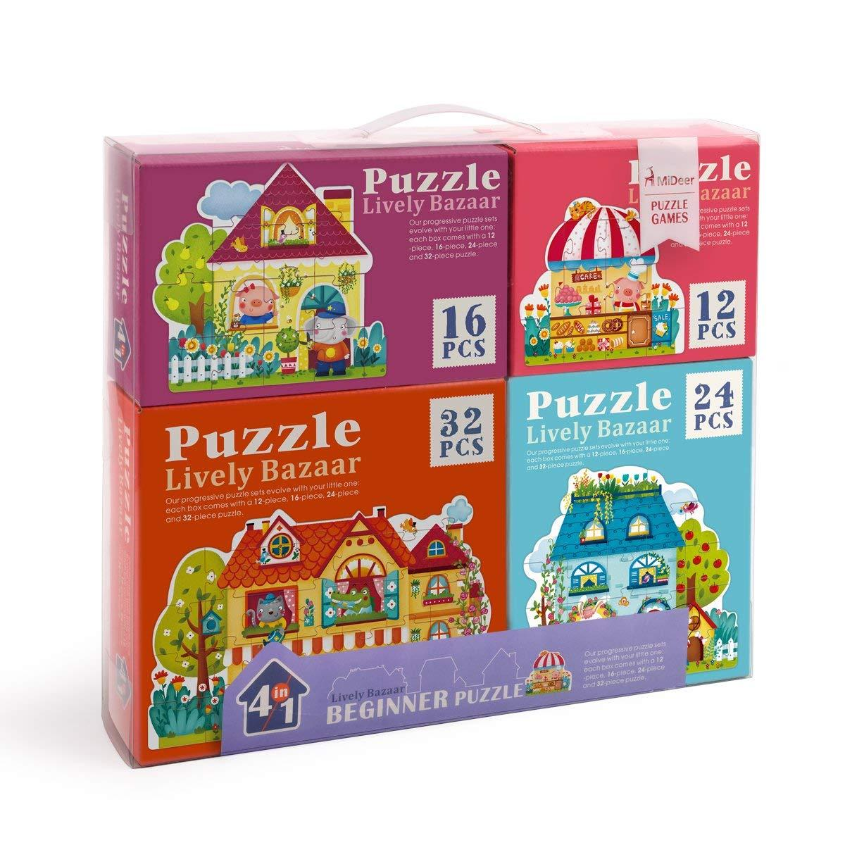 Puzzle 4 σε 1 Fairy Town (MD3017)