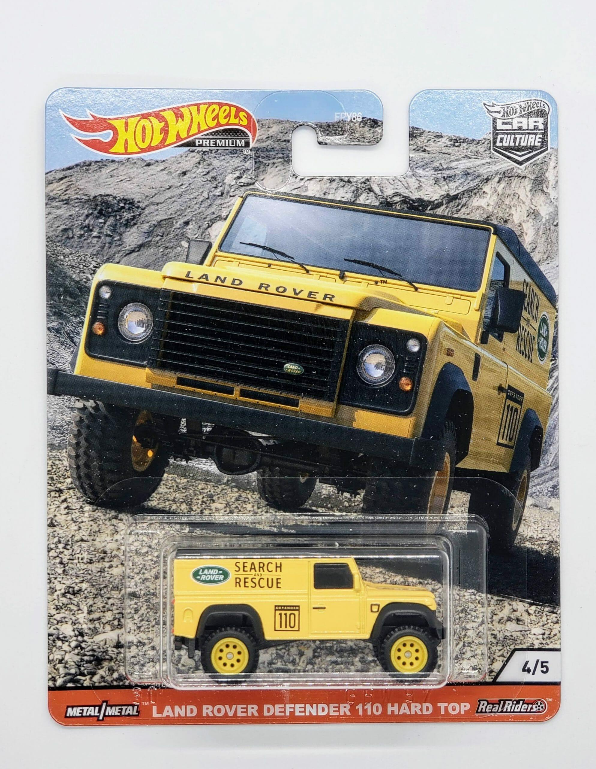 Hot Wheels Car Culture Wild Terrain Land Rover Defender 110 Hard Top (GJP86/FPY86)