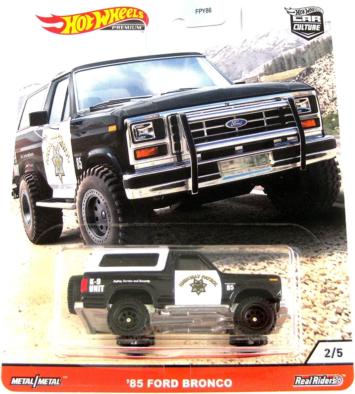 Hot Wheels Car Culture Wild Terrain Real Riders Ford Bronco (1985) (GJP88/FPY86)