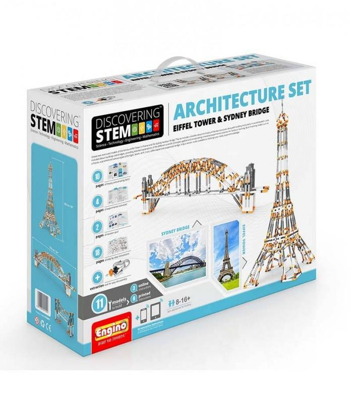 Engino Stem Architecture : Eiffel Tower and Sydney bridge (STEM55)