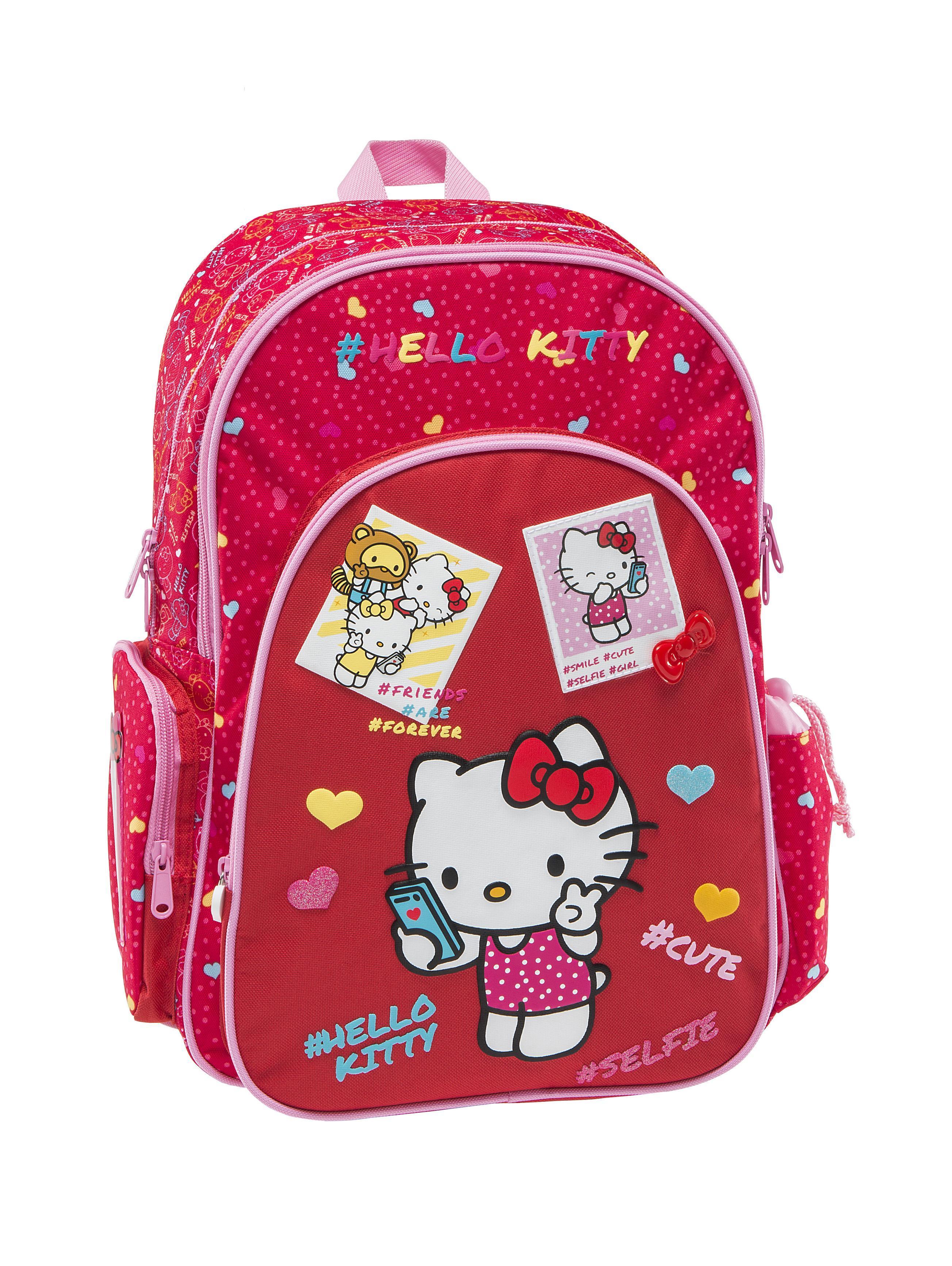 fa9bb523c7 Graffiti - Σακίδιο σχολικό πολυθεσιακό Hello Kitty kids κόκκινο ...
