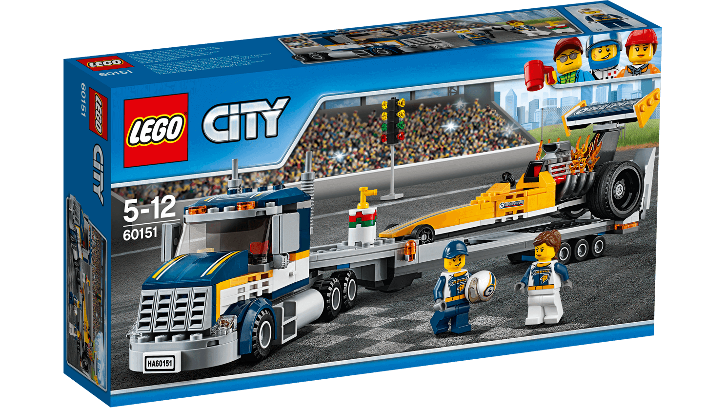 Lego City Great Vehicles Dragster Transporter