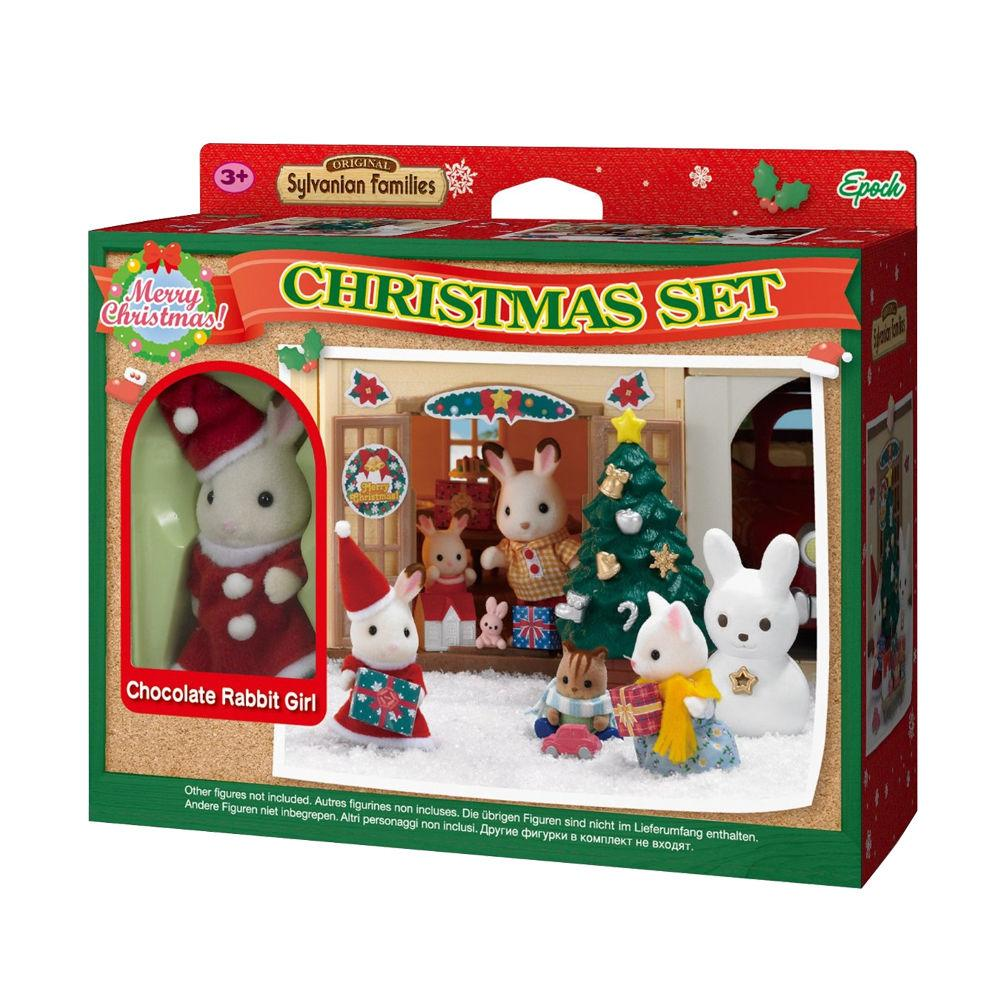 Sylvanian Families Chocolate Rabbit Girl Christmas Set