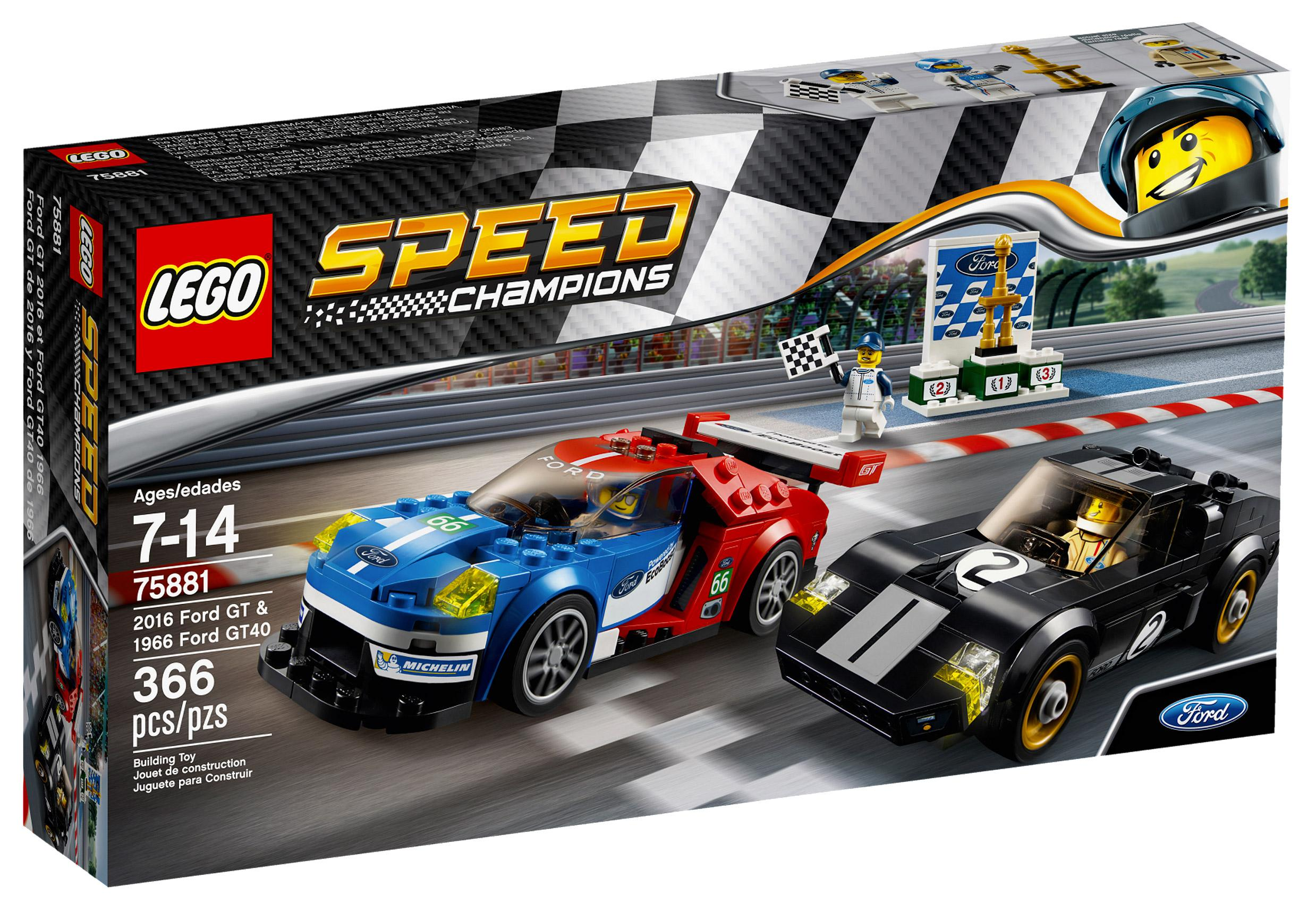 Lego Speed Champions 2016 Ford GT & 1966 Ford GT40