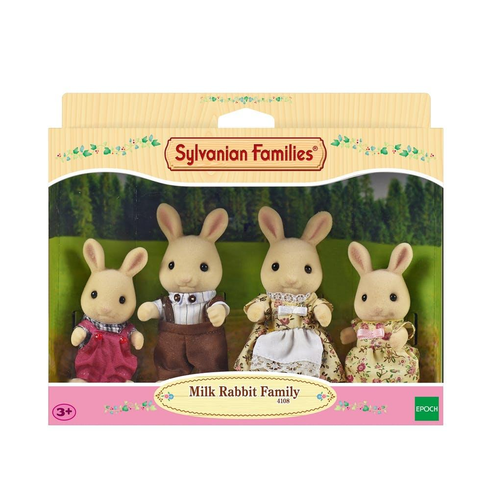Sylvanian Families Milk Rabbit Family