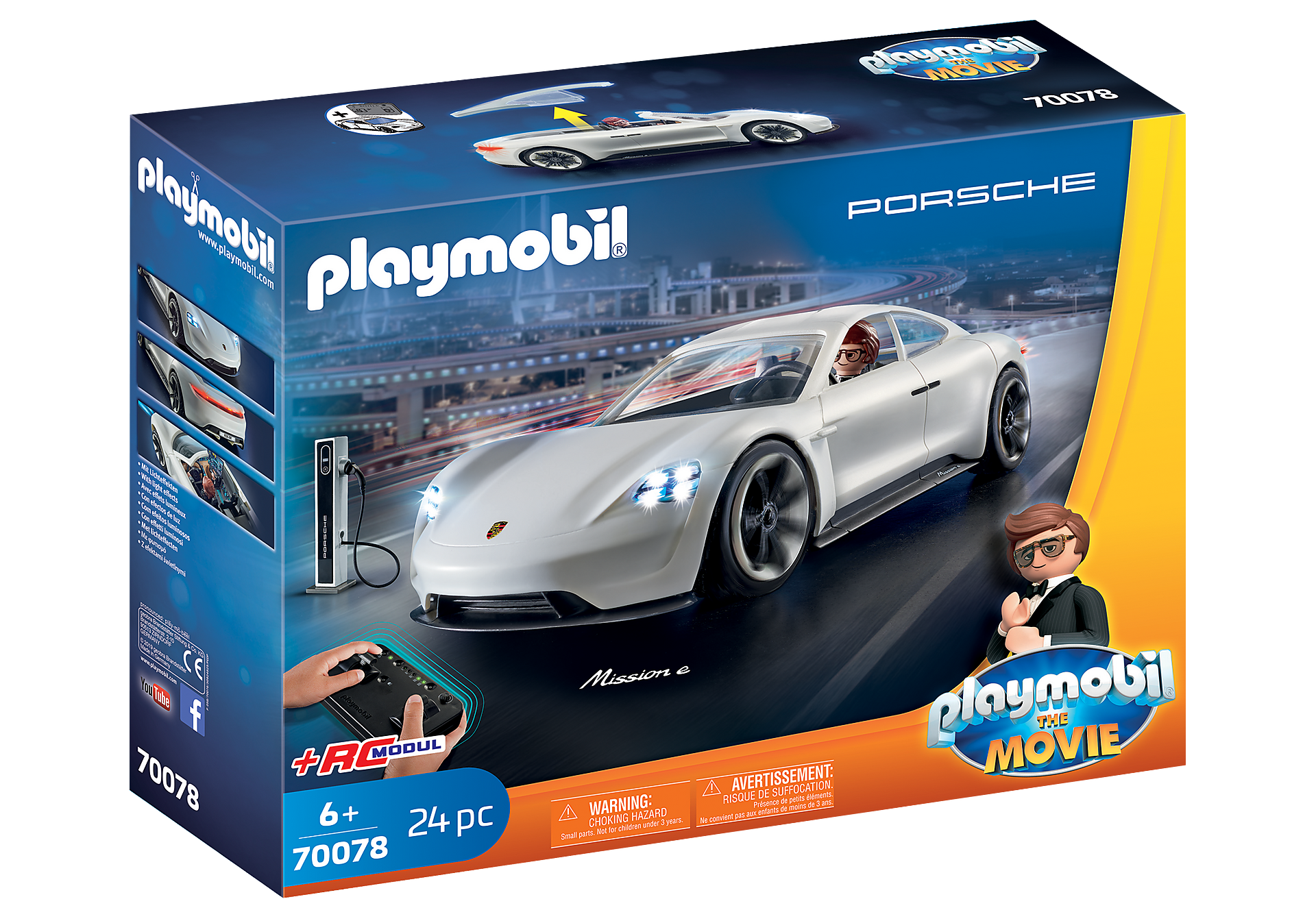 Playmobil The Movie Ο Ρεξ Ντάσερ με την Porsche Mission E (70078)