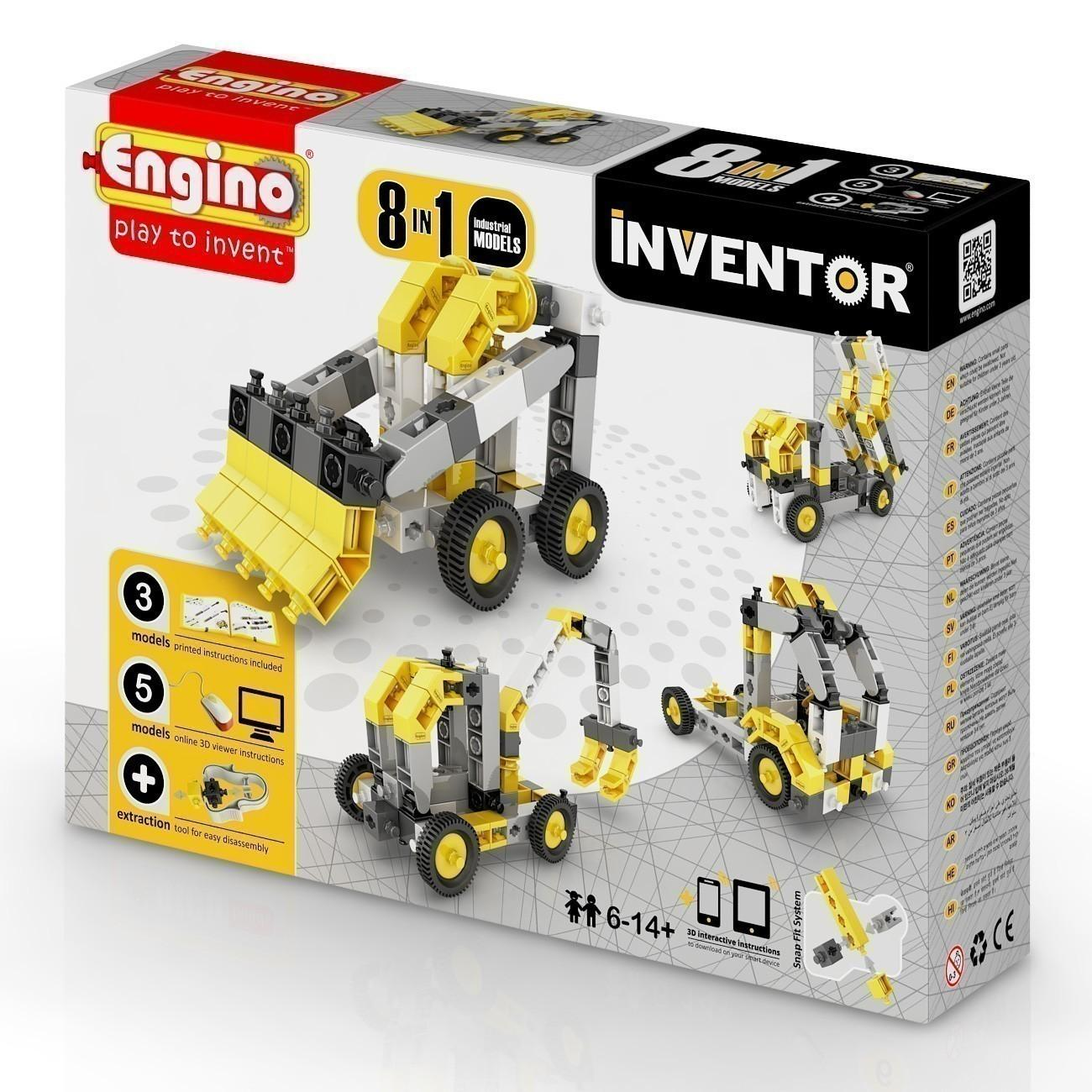 Engino Inventor 8 in 1 Industrial Vehicles (0834)