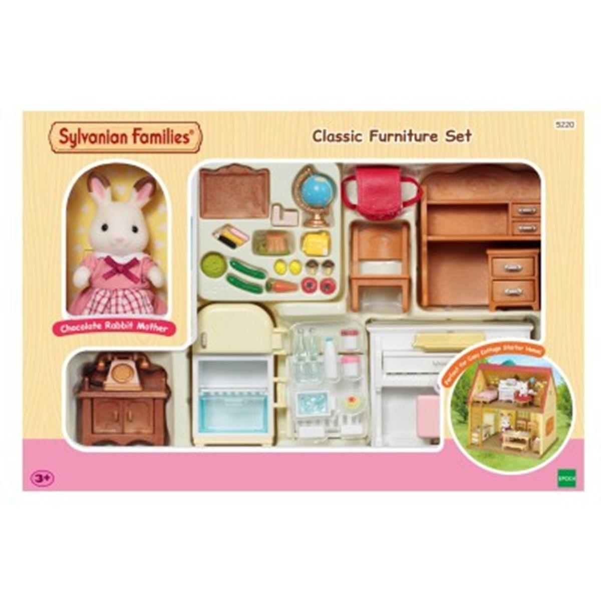 Sylvanian Families Classic Furniture Set for Cosy Cottage Starter Home (5220)