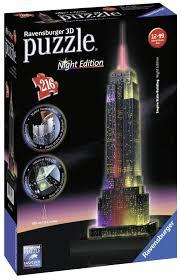 Puzzle 3D 216τεμ Night Edition Empire State Building (12566)