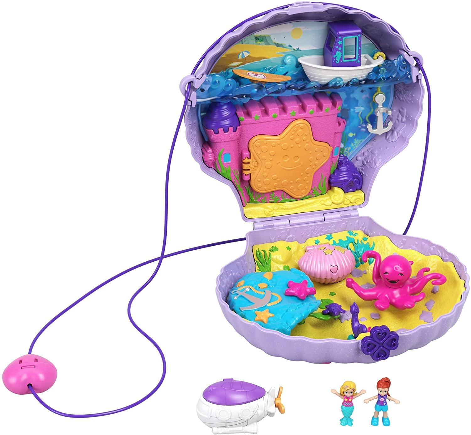 Polly Pocket Tiny Power Seashell Purse Τρέντι Τσαντάκι Κοχύλι (GNH11/GKJ63)