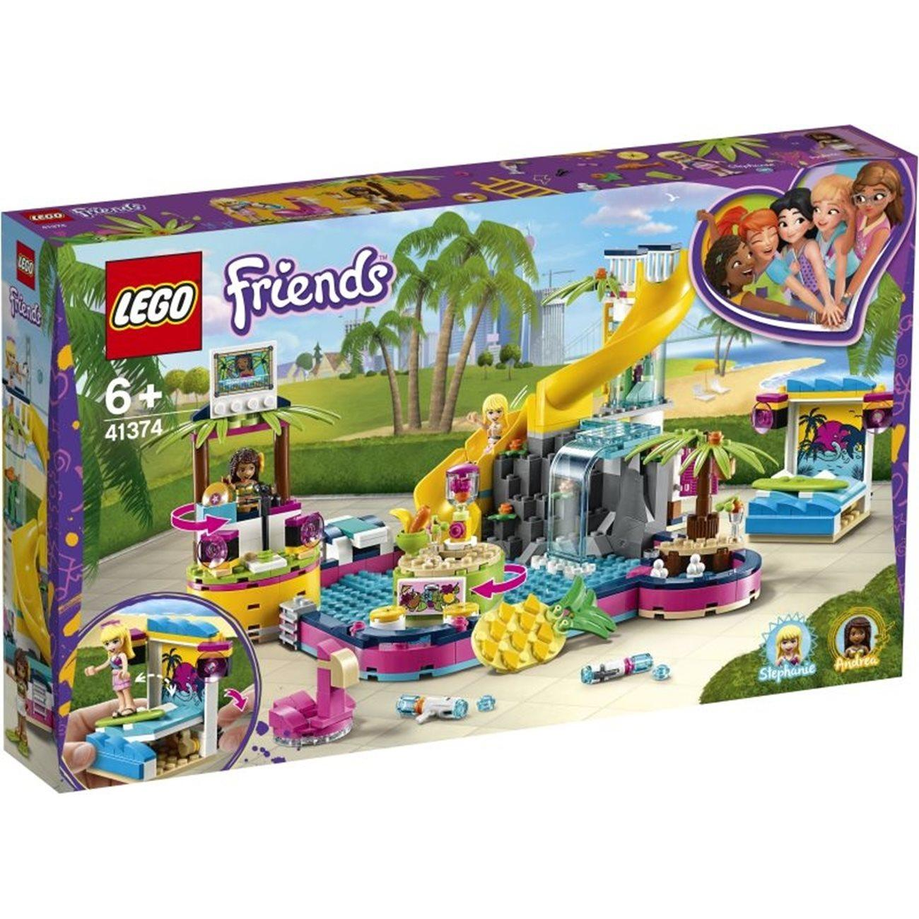 Lego Friends Andreas pool party (41374)