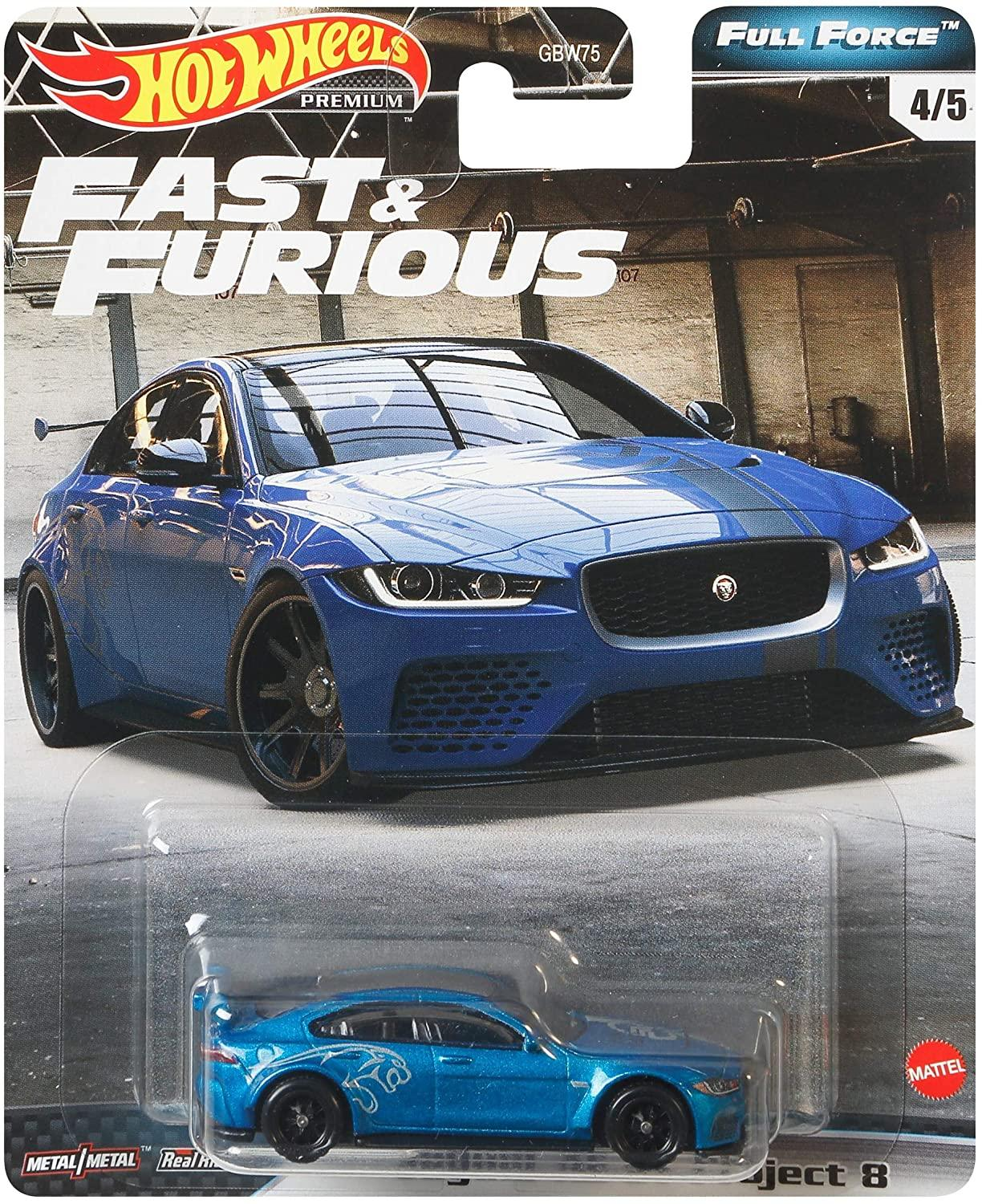 Hot Wheels Full Force Real Riders Fast And Furious Jaguar XE SV Project 8 (GJR74/G...