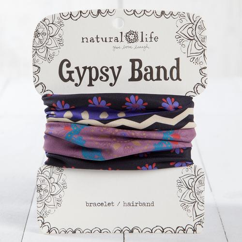 Gypsy Band Black and Purple flower